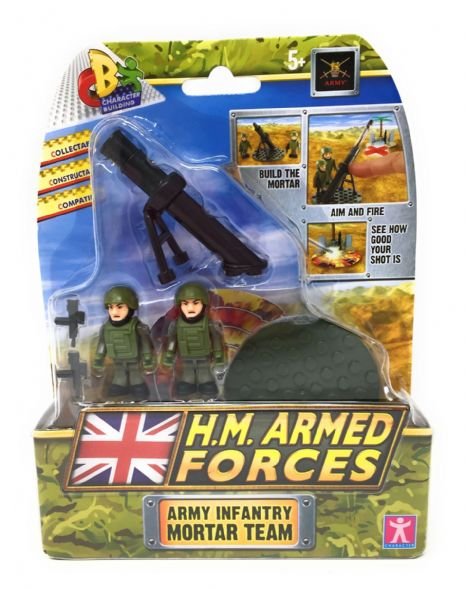 Character Building H.M. Armed Forces Set: ARMY INFANTRY MORTAR TEAM - NEW